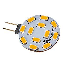 5W G4 Lâmpadas de Foco de LED 12 leds SMD 5730 Branco Quente Branco Frio 420-500lm 2800-3000K DC 12 AC 12V