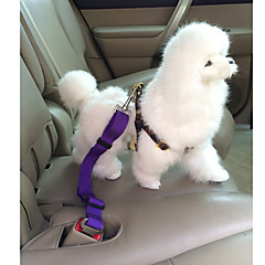 Dog Car Seat Harness/Safety Harness Adjustable/Retractable / Safety Solid Red / Black / Blue / Pink / Purple Nylon