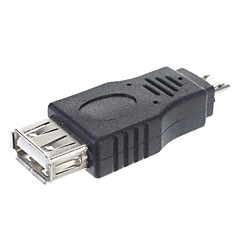 cheap Cables & Adapters-USB 2.0 A Female to Micro Male Adapter/OTG Connector Tablet/PC Connector(Black)