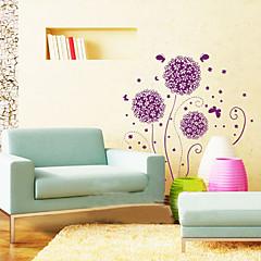 olcso -1db lila virág fali matrica