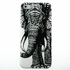 Недорогие Кейсы для iPhone 6 Plus-Право Слон Pattern Твердый переплет чехол для iPhone 5/5S