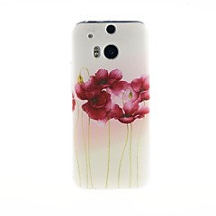 For HTC Case Pattern Case Back Cover Case Flower Soft TPU HTC