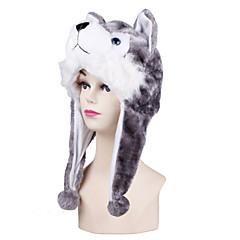 Kigurumi-pyjama's Dog Husky Onesie Pyjama  Kostuum Nepbont Grijs Cosplay Voor Volwassenen Dieren nachtkleding spotprent Halloween