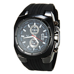 V6 Мужской Армейские часы Кварцевый Японский кварц силиконовый Группа Черный