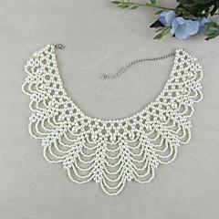 お買い得  ネックレス-女性用 真珠 人造真珠 カラー  -  ヴィンテージ 結婚式 Elegant ジュエリー ホワイト ネックレス 用途 結婚式 パーティー 誕生日