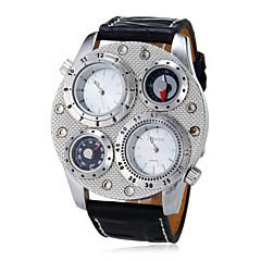 お買い得  メンズ腕時計-男性用 軍用腕時計 コンパス ハンズ ホワイト ブラック