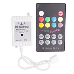 お買い得  LED ストリングライト-LEDライトのためのリモートコントロールを備えたRF音楽LEDストリップコントローラー(72 W 12〜24V)