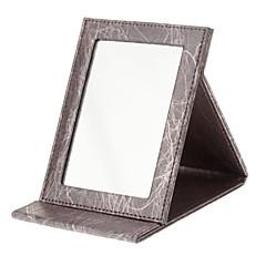 お買い得  鏡-メイク用品収納 鏡 16.5*12.2*1.7 レッド