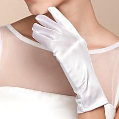 abordables Bijoux pour Femme-Coton / Satin Longueur Poignet Gant Charme / Elégant / Gants de Mariée Avec Broderie / Couleur Unie