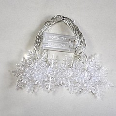Battery Powered 10 LED Kolor Zmiana Snowflake String Fairy Lights dla Christmas Party (2xAA)