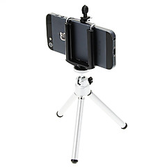 I-12-2-SL Mini Desktop aluminium statief met Single-deck twee secties (splinter) & Mobile Phone Tripod Mount Holder