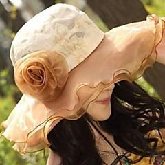 Moda feminina Lace Flor Floppy Hat