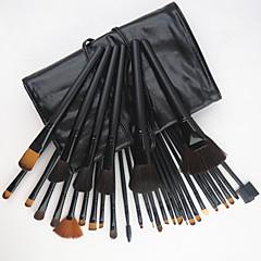 hesapli -32 Prç Yeni Profesyonel Keçi Kılı Siyah Makyaj Fırçaları - Ücretsiz Kılıf