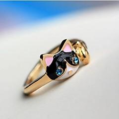 preiswerte Ringe-Damen Statement-Ring - Diamantimitate, Aleación Katze, Tier Personalisiert, Luxus, Modisch 10 Dunkelblau Für Party / Alltag / Normal / Krystall