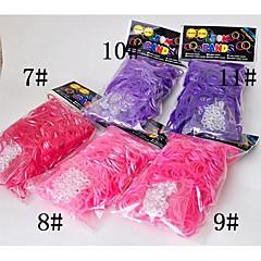 baoguang®300pcs sateenkaaren värit kangaspuut kirkas väri muoti kangaspuut kuminauha (12kpl koukku, eri värejä)