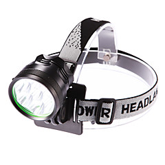 Headlamps Headlight LED 5000 lm 3 Mode Cree XM-L T6 with Battery and Charger Adjustable Focus Waterproof Camping/Hiking/Caving Everyday