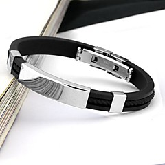 cheap Men's Jewelry-Men's Cuff Bracelet Personalized Fashion Stainless Steel Circle Jewelry Daily Casual Sports Costume Jewelry