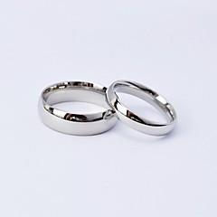 preiswerte Ringe-Paar Eheringe - Titanstahl 5 / 6 / 7 / 8 / 9 Silber Für Alltag Normal