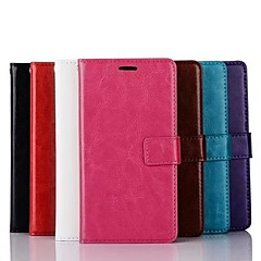 voordelige Hoesjes / covers voor LG-Voor LG hoesje Portemonnee / Kaarthouder / met standaard / Flip hoesje Volledige behuizing hoesje Effen kleur Hard PU-leer LG LG G3