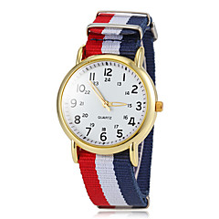 preiswerte Damenuhren-Damen Armbanduhr Quartz Sportuhr Stoff Band Analog Charme Freizeit Mehrfarbig - Grün Blau Marineblau