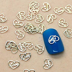 Design 200pcs inima dragoste felie de metal nail art decor
