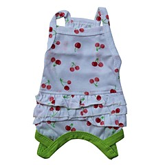 cheap Cat Apparel-Cat Dog Shirt / T-Shirt Dog Clothes Fruit Red Green Cotton Costume For Pets