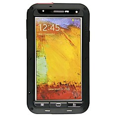 Недорогие Чехлы и кейсы для Galaxy Note 3-Lovemei Кейс для Назначение SSamsung Galaxy Samsung Galaxy Note Водонепроницаемый / Защита от удара / Защита от пыли Чехол броня Металл для Note 3