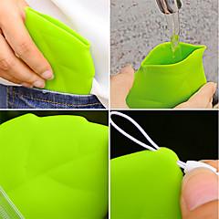 1 قطعة المحمولة ورقة نمط جيب كوب البيئية الخضراء تحمل كوب
