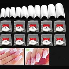 abordables punta de la uña-10x50pcs tamaño medio mixs arte de uñas blanco consejos francés