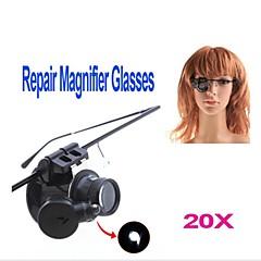 ZW-9882-2 Óculos Estilo Único 20X Magnifier com luz LED branca (2 x CR1620)