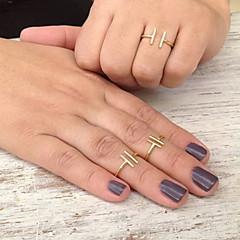 お買い得  指輪-女性用 バンドリング  -  銅 欧風, シンプルなスタイル, ファッション 調整可 ゴールド / シルバー 用途 パーティー / 日常 / カジュアル
