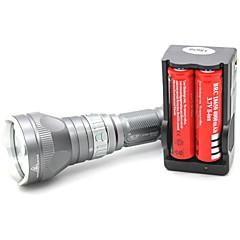 Latarki do nurkowania LED 1000 lm 5 Tryb Cree XM-L T6 Regulacja promienia Odporne na czynniki zewnętrzne Uchwyt antypoślizgowy Akumulator