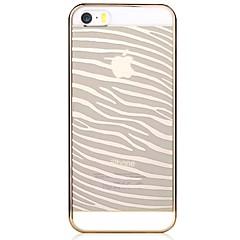 Для Кейс для iPhone 5 Прозрачный / С узором Кейс для Задняя крышка Кейс для Полосы / волосы Твердый PC iPhone SE/5s/5