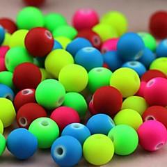 voordelige Kralen-z&x® diy kralen materiaal gekleurde fluorescerende kralen 6mmx6mm 100 stuks (willekeurige kleur, patroon)