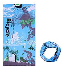 모자 반다나 목 각반 자전거 통기성 방풍 자외선 방지 착용 가능한 선크림 여성의 남성의 남녀 공용 블루 폴리에스터
