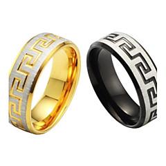 Finomszemcsés és a kiváló minőségű titán acél férfi egy gyűrűt