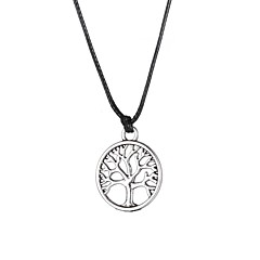 Fashion Stainless Steel Tree Pendant Necklace