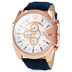 preiswerte Tolle Angebote auf Uhren-V6 Herrn Quartz Armbanduhr Militäruhr Armbanduhren für den Alltag PU Band Charme Braun Grün Marinenblau