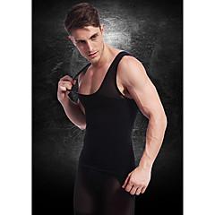 mannen afslankend ondergoed body shaper vest gilet overhemd stevige buik buik borst nylon zwart ny027