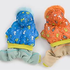 お買い得  犬用ウェア&アクセサリー-犬用品 - 冬 - コスプレ 用- 混合材 - コート - ブルー / オレンジ