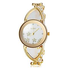 お買い得  レディース腕時計-女性用 リストウォッチ 日本産 合金 バンド 花型 / エレガント / ファッション 白 / ゴールド