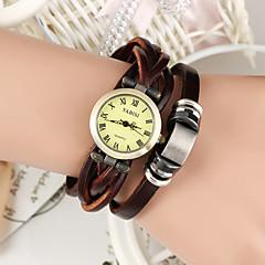 cheap Bracelet Watches-Women's Quartz Bracelet Watch Casual Watch Leather Band Vintage Bohemian Fashion Brown