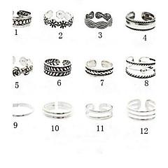 Női Testékszer Lábujjgyűrűk mandzsetta Ring Egyedi Európai Régies (Vintage) jelmez ékszerek Divat Ötvözet Flower Shape Ékszerek Ékszerek