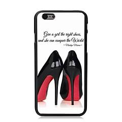 Недорогие Кейсы для iPhone 6-Для Кейс для iPhone 6 / Кейс для iPhone 6 Plus С узором Кейс для Задняя крышка Кейс для Соблазнительная девушка Твердый PCiPhone 6s