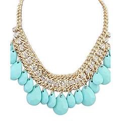 preiswerte Halsketten-Halskette  -  Diamantimitate Tropfen Luxus, Europäisch Schwarz, Orange, Blau Modische Halsketten Für Party