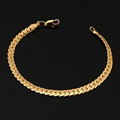 cheap Bracelets-Women's Chain Bracelet / Bangles / ID Bracelet - Gold Plated Bracelet Gold For Christmas Gifts / Wedding / Party / Friendship Bracelet / Vintage Bracelet