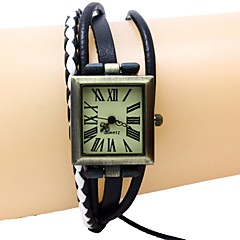 お買い得  レディース腕時計-女性用 クォーツ レザー バンド ブラック / ブラウン / カーキ ブランド-