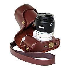 サムスンNX300の18〜55ミリメートルレンズやプライムレンズ用pajiatu®PUレザーオイルスキンカメラ保護ケース