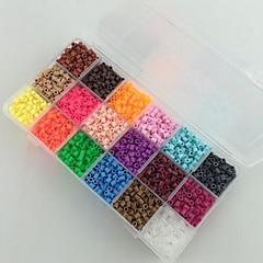 kb 5400pcs 18 vegyes színű 5mm biztosítékot gyöngyök állítsa hama gyöngyök DIY kirakós EVA anyagból safty gyerekeknek (B sorozat, 18 *
