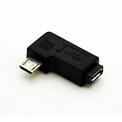 preiswerte Kabel & Adapter-links abgewinkelt 90 Grad Micro-USB-Stecker auf Micro-USB-Buchse Verlängerungskabel Adapter Conventer Kabelstecker versandkostenfrei